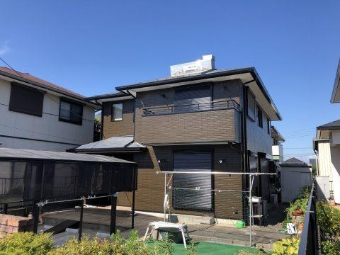 屋根に高級塗料を使いたい。良心的な会社にお願いしたい。<築25年位 袖ヶ浦市福王台 屋根外壁塗装、シール打ち換え、工事防水工事>サムネイル