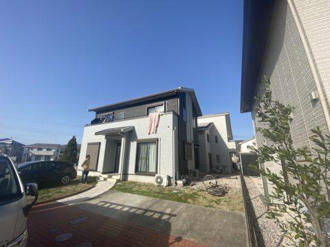 君津市八重原S様邸。破風板金修理、軒交換、軒塗装サムネイル